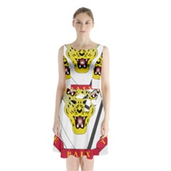Coat of Arms of The Democratic Republic of The Congo Sleeveless Chiffon Waist Tie Dress