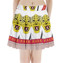 Coat of Arms of The Democratic Republic of The Congo Pleated Mini Skirt