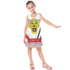 Coat of Arms of The Democratic Republic of The Congo Kids  Sleeveless Dress