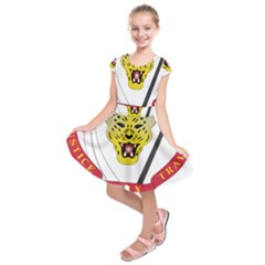 Coat of Arms of The Democratic Republic of The Congo Kids  Short Sleeve Dress