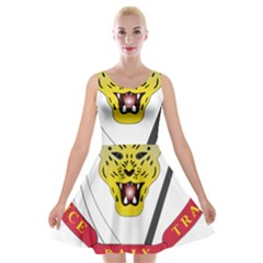 Coat of Arms of The Democratic Republic of The Congo Velvet Skater Dress