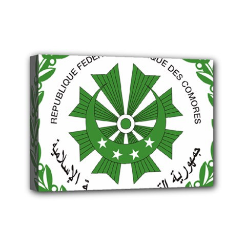 National Seal of the Comoros Mini Canvas 7  x 5
