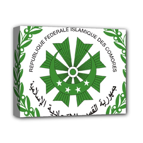 National Seal of the Comoros Deluxe Canvas 14  x 11
