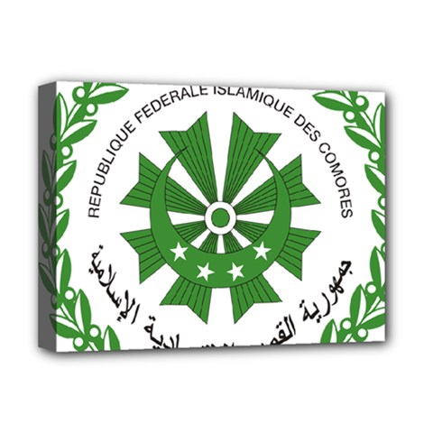 National Seal of the Comoros Deluxe Canvas 16  x 12
