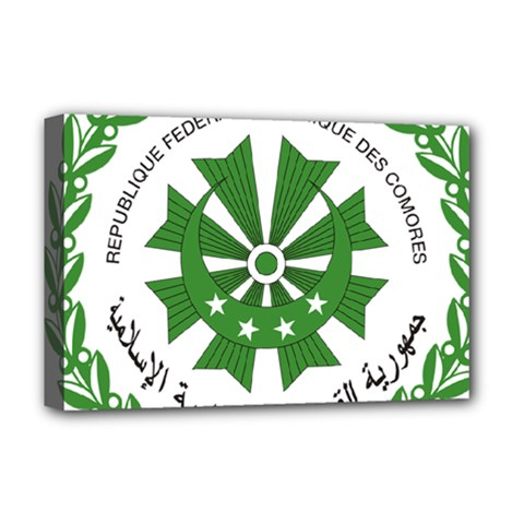 National Seal of the Comoros Deluxe Canvas 18  x 12