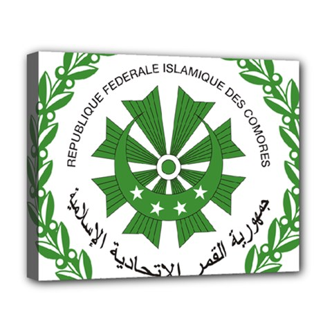 National Seal of the Comoros Deluxe Canvas 20  x 16