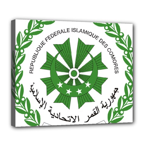 National Seal of the Comoros Deluxe Canvas 24  x 20