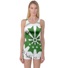 National Seal of the Comoros One Piece Boyleg Swimsuit