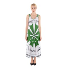 National Seal of the Comoros Sleeveless Maxi Dress