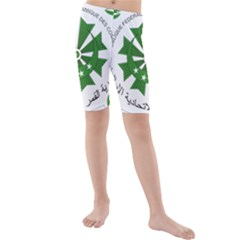 National Seal of the Comoros Kids  Mid Length Swim Shorts