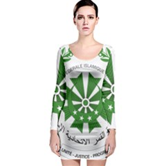 National Seal of the Comoros Long Sleeve Bodycon Dress