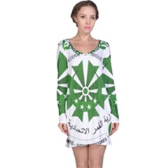 National Seal of the Comoros Long Sleeve Nightdress