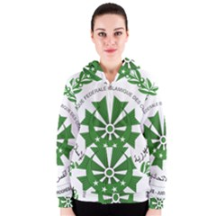 National Seal of the Comoros Women s Zipper Hoodie