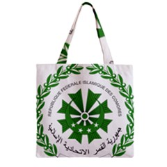 National Seal of the Comoros Zipper Grocery Tote Bag
