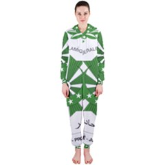 National Seal of the Comoros Hooded Jumpsuit (Ladies)