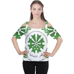 National Seal of the Comoros Women s Cutout Shoulder Tee