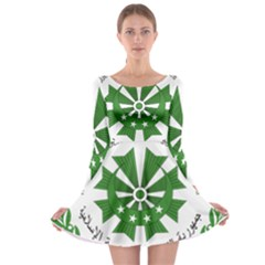 National Seal of the Comoros Long Sleeve Skater Dress