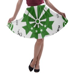 National Seal of the Comoros A-line Skater Skirt