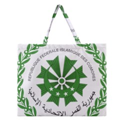 National Seal of the Comoros Zipper Large Tote Bag