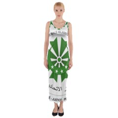National Seal of the Comoros Fitted Maxi Dress