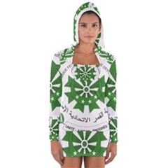 National Seal of the Comoros Women s Long Sleeve Hooded T-shirt