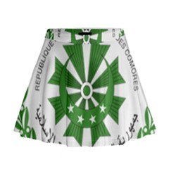 National Seal of the Comoros Mini Flare Skirt