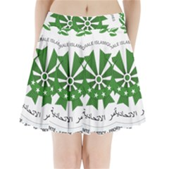 National Seal of the Comoros Pleated Mini Skirt
