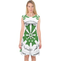 National Seal of the Comoros Capsleeve Midi Dress