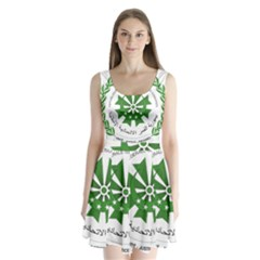 National Seal of the Comoros Split Back Mini Dress