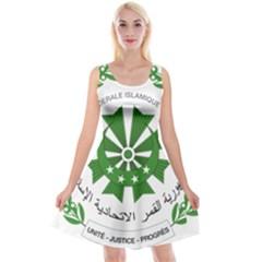 National Seal of the Comoros Reversible Velvet Sleeveless Dress