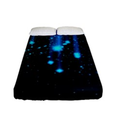 Abstract Stars Falling Fitted Sheet (full/ Double Size)