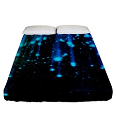 Abstract Stars Falling Fitted Sheet (california King Size)