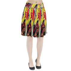 Splash Pleated Skirt