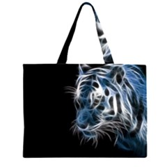 Ghost Tiger  Large Tote Bag