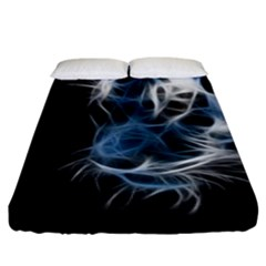 Ghost Tiger Fitted Sheet (king Size)