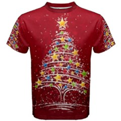 Colorful Christmas Tree Men s Cotton Tee