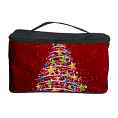 Colorful Christmas Tree Cosmetic Storage Case