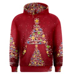 Colorful Christmas Tree Men s Pullover Hoodie