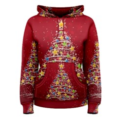 Colorful Christmas Tree Women s Pullover Hoodie