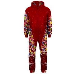 Colorful Christmas Tree Hooded Jumpsuit (Men)