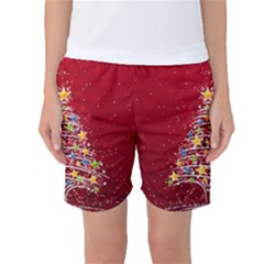 Colorful Christmas Tree Women s Basketball Shorts
