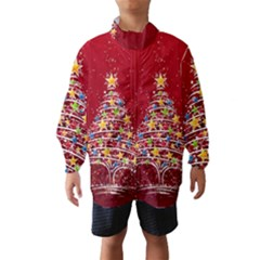 Colorful Christmas Tree Wind Breaker (Kids)