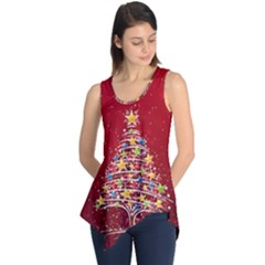 Colorful Christmas Tree Sleeveless Tunic