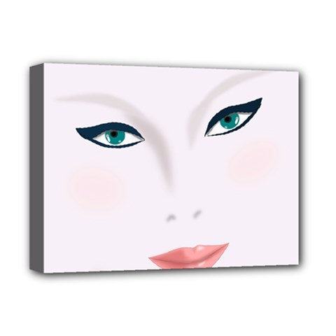 Face Beauty Woman Young Skin Deluxe Canvas 16  x 12