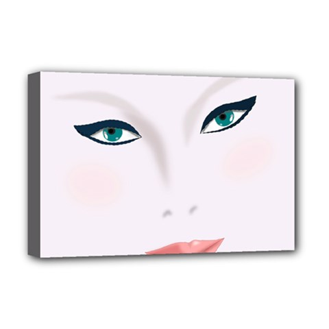 Face Beauty Woman Young Skin Deluxe Canvas 18  x 12