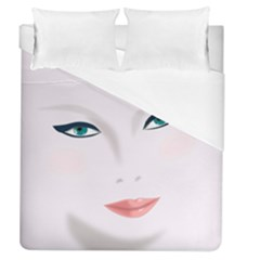 Face Beauty Woman Young Skin Duvet Cover (Queen Size)