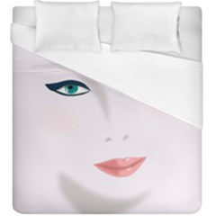 Face Beauty Woman Young Skin Duvet Cover (King Size)