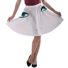Face Beauty Woman Young Skin A-line Skater Skirt