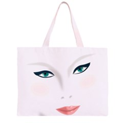 Face Beauty Woman Young Skin Large Tote Bag
