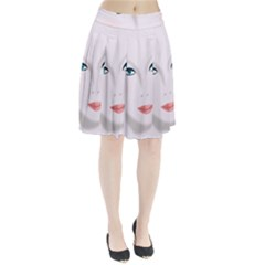 Face Beauty Woman Young Skin Pleated Skirt